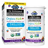 Garden of Life Dr. Formulated Probiotics Organic Kids+ Plus Vitamin C & D Chewables Tablets, Gluten, Dairy & Soy Free, Immune & Digestive Health Supplement, No Added Sugar, Berry Cherry, 30 Count