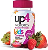 up4 Kids Probiotic Gummies, Digestive and Immune Support with Prebiotics and Vitamin C, Gelatin Free, Gluten Free and Non-GMO, For Ages 3+, 30 count