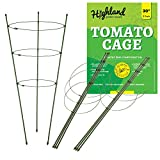 3 Pack Tomato Plant Support Garden Cage for Vegetables Climbing Plants Cucumbers Peony (Large 30' Height)