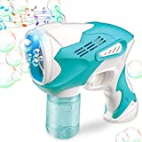 Bubble Gun for Kids Bubble Gun Blower for Toddlers Automatic Bubble Maker Blower Machine with Lights and Music for Bubble Party, Outdoor Toys, Outdoor & Indoor Activity, Kids Birthday&Party Gift