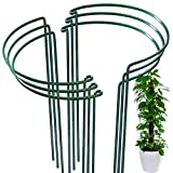 6 Pack Plant Support Plant Stakes, LEOBRO Metal Peony Support, Garden Plant Supports, Plant Cage, Plant Support Ring, Plant Support Stakes for Peony, Tomato, Hydrangea, Indoor Plants, 9.4' W x 15.6' H