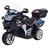 Ride on Toy, 3 Wheel Motorcycle Trike for Kids by Rockin' Rollers – Battery Powered Ride on Toys for Boys and Girls, 3 - 6 Year Old - Black FX