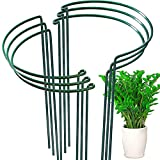 6 Pack Plant Support Plant Stakes, LEOBRO Metal Garden Plant Supports, Plant Cage, Plant Support Ring, Plant Support Stakes for Peony, Tomato, Hydrangea, Indoor Plants, 9.4' W x 15.6' H