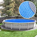 Pool Mate 24S-8SBD BOXPM Deluxe Solar Blanket for Above Ground Swimming Pools, 24' Round Pool, Blue/Silver, 5-Year Blue/Silver