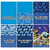In The Swim 18 FootRound Overlap Above Ground Pool Liner, Rolling Wave, 20 Gauge