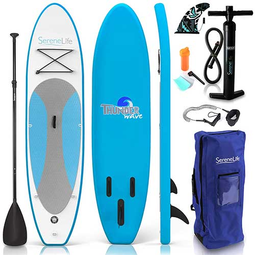 2. SereneLife Inflatable Stand Up Paddle Board