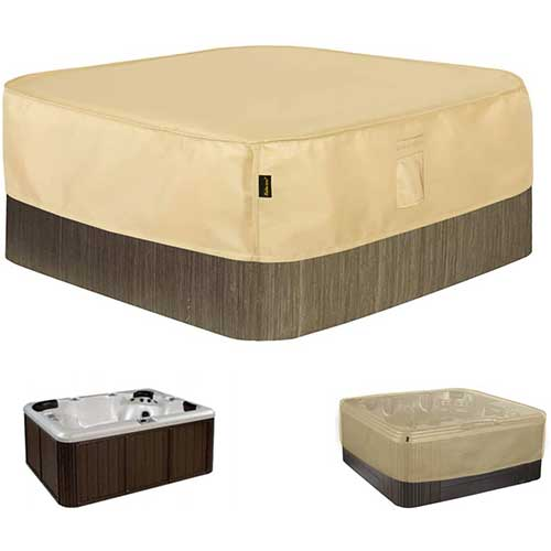10. Hentex Square Hot Tub Cover Outdoor SPA Covers