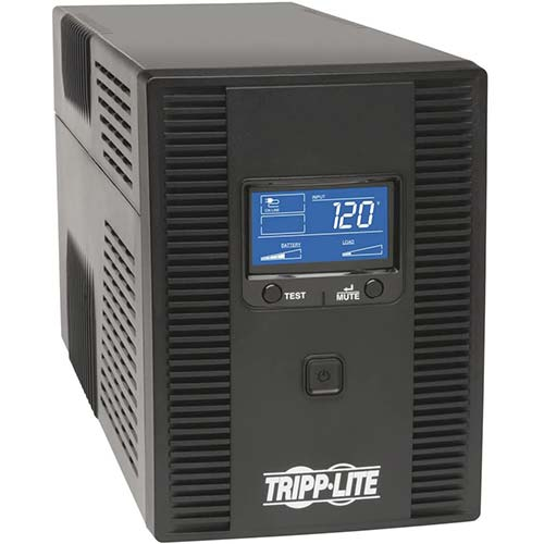 6. Tripp Lite 1500VA UPS Battery Back Up AVR LCD Display 10 Outlets 120V 810W Tel & Coax Protection USB