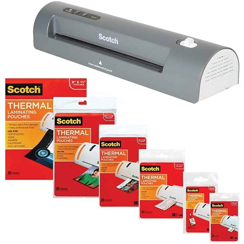 8. 3M Laminator Kit with Every Size Laminating Pouch
