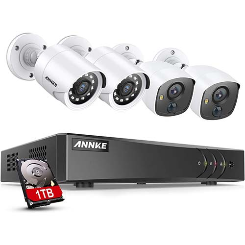 10. ANNKE 8 Channel Security Camera System 5-in-1 1080P lite H.264+ Wired DVR