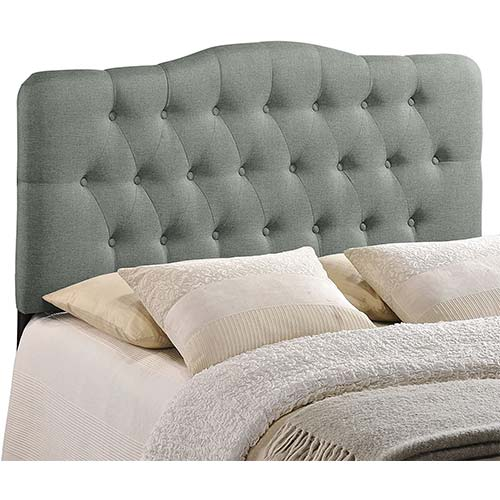 2. Modway Annabel Tufted Button Linen Fabric Upholstered King Headboard