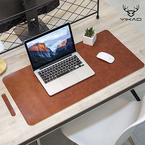 4. Yikda Extended Leather Gaming Mouse Pad/Mat, Large Office Writing Desk Computer Leather Mat Mousepad