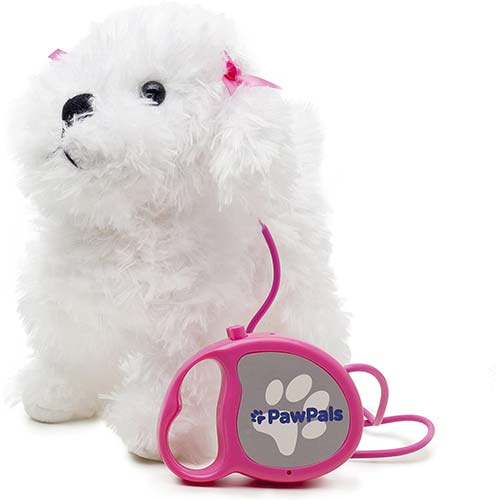 8. MEVA PawPals Kids Walking and Barking Puppy Dog Toy Pet with Remote Control Leash