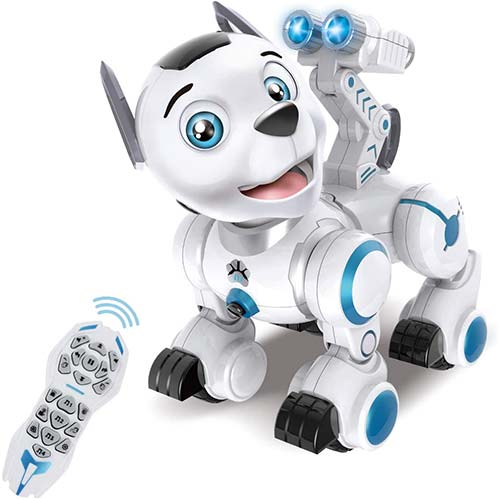 2. fisca Remote Control Robotic Dog RC Interactive Intelligent Walking Dancing Programmable Robot Puppy Toys Electronic Pets
