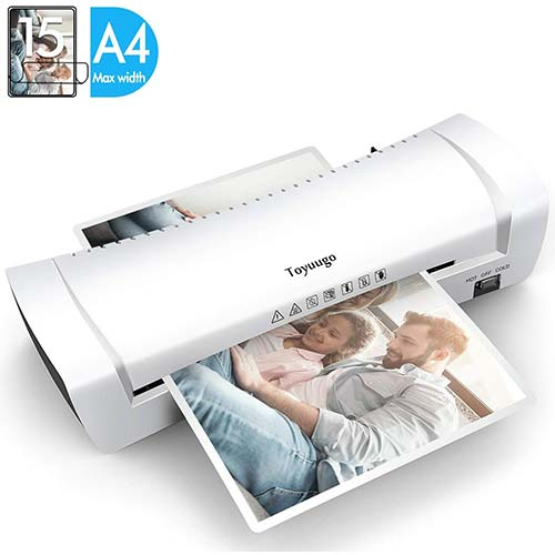 7. Toyuugo Laminator Machine, Portable A4 Thermal Laminating Machine with Hot and Cold Settings