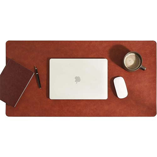 7. Aothia ECO Cork & Leather Dual-Sided New Upgrade Sewing Edge Office Desk Pad