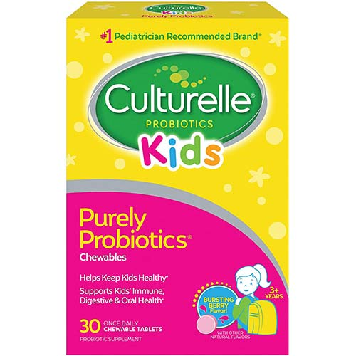 3. Culturelle Kids Chewable Daily Probiotic for Kids -Natural Berry– Supports Immune, Digestive, and Oral Health