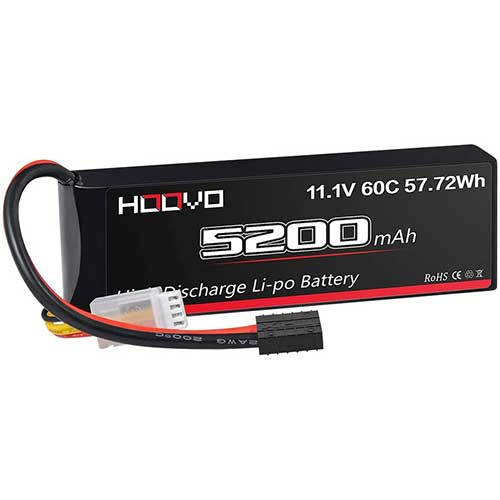 3. HOOVO 3S 11.1V 5200mAh 60C LiPo Battery Pack with Traxxas Plug for RC Helicopter RC Airplane RC Hobby UAV Drone FPV