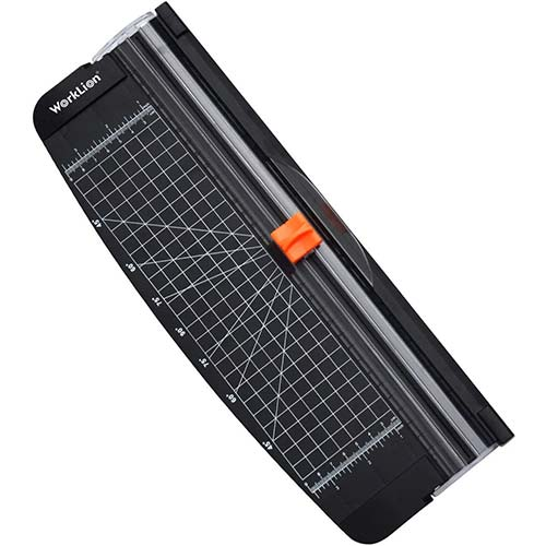 Best Paper Trimmers for Cardstock 6. WORKLION Small Paper Trimmer, Portable Paper Cutter