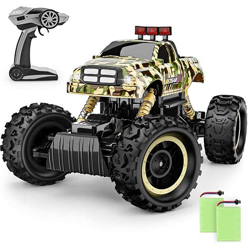 6. BEZGAR RC Car, 1:12 Monster Truck 4WD Dual Motors Rechargeable Off Road Remote Control Truck