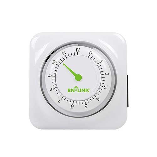 3. BN-LINK 12 Hour Mechanical Accurate Countdown Timer with Grounded Pin