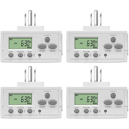 6. TOPGREENER TGT02 Plug In Timer for Electrical Outlets