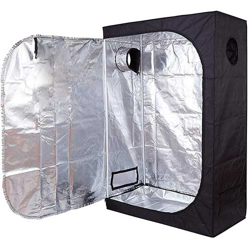 5. GreenHouser 36''x20''x63'' High Reflective Grow Tent Indoor Grow Room for Planting Fruit Flower Veg with Removable Water-Proof Floor Tray