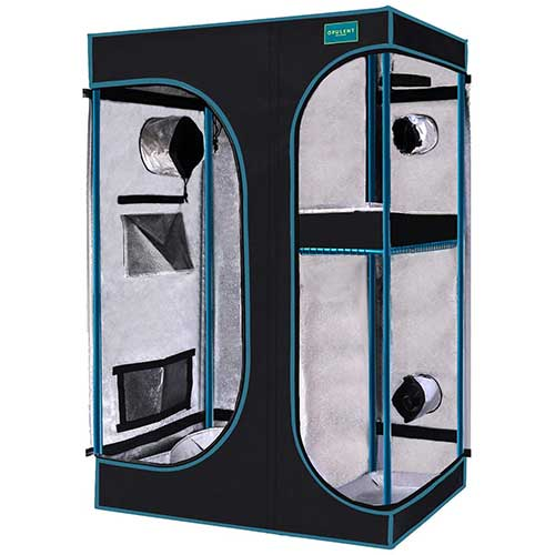 """8. OPULENT SYSTEMS 2-in-1 Grow Tent 36""""x24""""x53"""" Mylar Reflective Water-Resister Hydroponic Growing Tent for Indoor Plant Growing Systems"""
