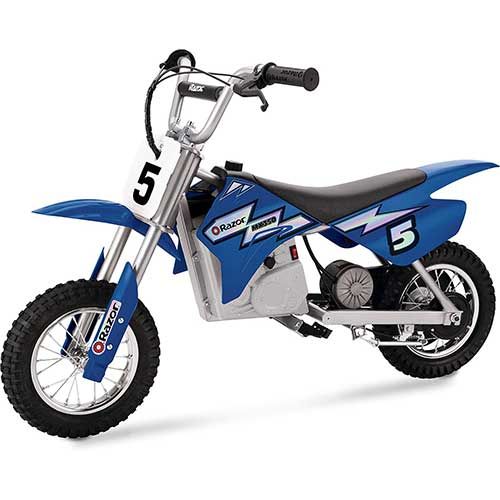 Best Electric Motorcycles for Kids 6. Razor MX350 Dirt Rocket Electric Motocross Off-road Bike for Age 13+, Up to 30 Minutes Continuous Ride Time