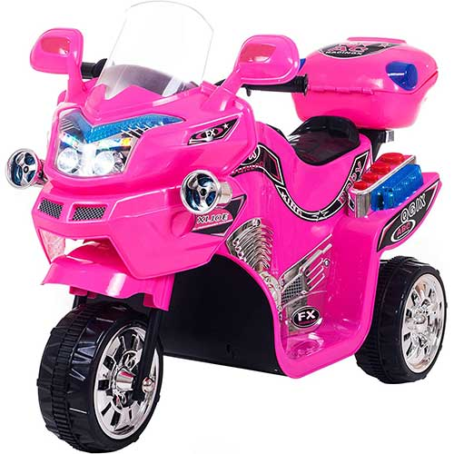 Best Electric Motorcycles for Kids 9. Ride on Toy, 3 Wheel Motorcycle for Kids, Battery Powered Ride On Toy by Lil' Rider