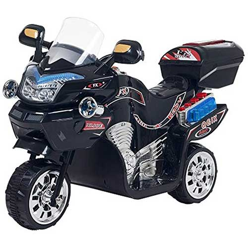 Best Electric Motorcycles for Kids 5. Ride on Toy, 3 Wheel Motorcycle Trike for Kids by Rockin' Rollers – Battery Powered Ride on Toys