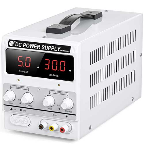 2. RoMech 30V 10A DC Power Supply Variable - Adjustable Switching DC Regulated Bench Power Supply