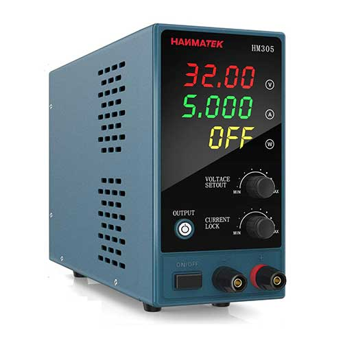 4. Adjustable DC Power Supply (0-30 V 0-5 A) with Output Enable/Disable Button HANMATEK HM305 Mini