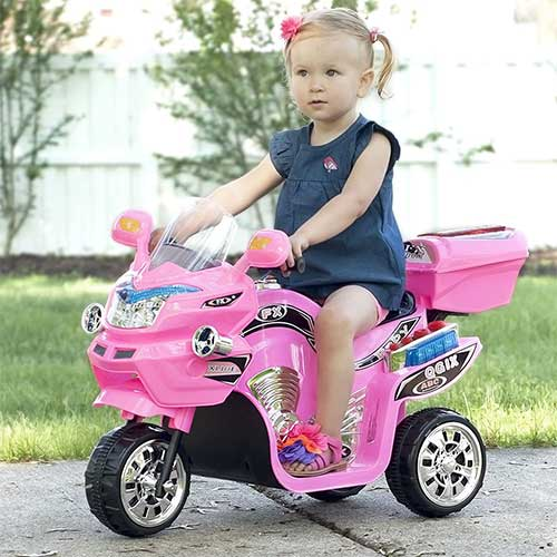 Best Electric Motorcycles for Kids 2. Lil' Rider Ride on Toy, 3 Wheel Motorcycle Trike for Kids Battery Powered Ride on Toys
