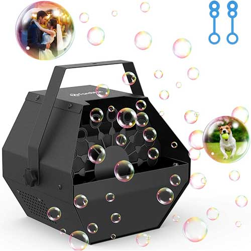 10. Professional Parties Bubble Machine, Durable Metal Bubble Machine with Upgraded Quiet Motor, Portable Handle Automatic Bubble Maker