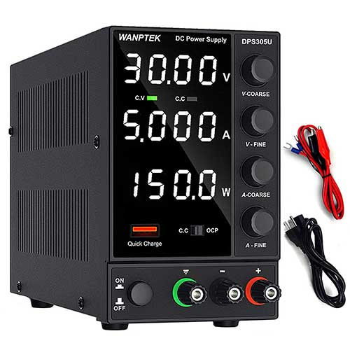10. DC Power Supply Variable, Adjustable Switching Regulated Power Supply (0-30 V 0-5 A) with 4-Digits LED Display