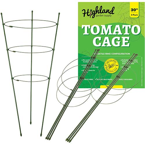 2. 3 Pack Tomato Plant Support Garden Cage for Vegetables Climbing Plants Cucumbers Peony (Large 30