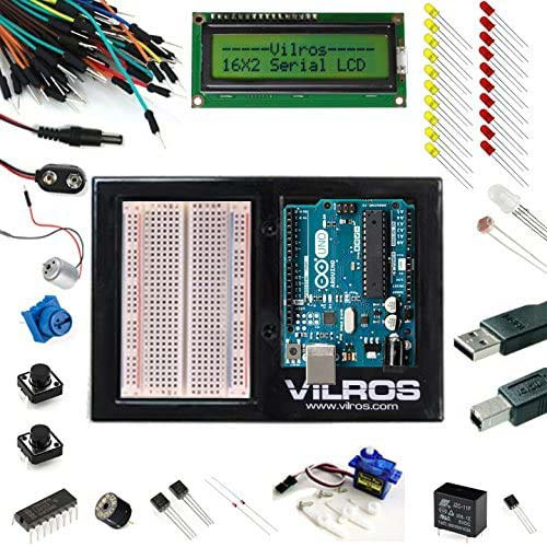 8. VilrosArduino Uno 3 Ultimate Starter Kit Includes 12 Circuit Learning Guide