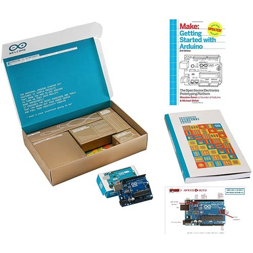4. ArduinoThe Official Starter Kit Deluxe Bundle with Make: Getting Started the Open Source Electronics Prototyping Platform 3rd Edition Book