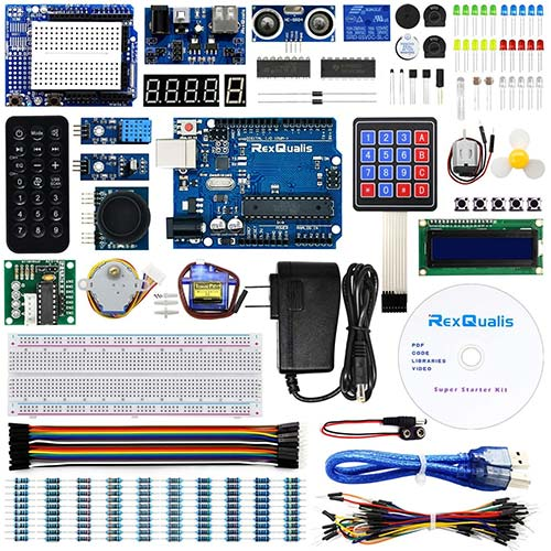 10. REXQualis Super Starter Kit based on Arduino UNO R3 with Tutorial and Controller Board Compatible with Arduino IDE